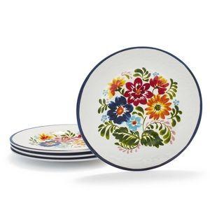 NWT Sur la table Flora Melamine Salad Plates